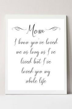 Mother's Day Printable, Last Minute Mother's Day Gifts, Gifts for Mom from Daugh… – presents for mom Mom Quotes From Daughter, Mothers Day Gifts From Daughter, Mothers Day Crafts For Kids, Diy Mothers Day Gifts, Mothers Day Presents, Mothers Day Cards, Mother Gifts, Happy Birthday Mom From Daughter, Love My Mom Quotes