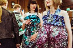 Behind the scenes at Mary Katrantzou #BACKSTAGE #SS14 #LFW