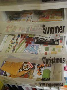 One Thrifty Chick: Scrapbook room Organization! Goal #1!!