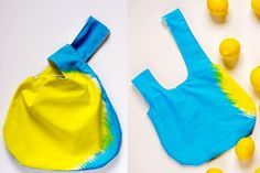 Get this fun and easy to sew tutorial for a reversible Japanese knot bag. It's a…