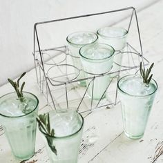 Wire Caddy and Juice Glasses, Set of Six, available at #surlatable