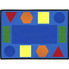 Sitting Shapes Classroom Rug 10'9 x 13'2 Rectangle