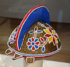 #Beaded #Cap for an #Egungun #Masquerade, #Nigeria, #Yoruba people, mid 20th century, beads, fabric, wood - Chazen Museum of Art - DSC01815.JPG. #Africa #culture
