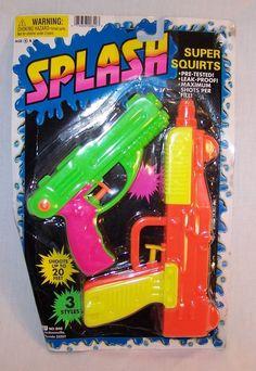 Vintage JA-RU SPLASH - Super Squirts - Water Guns Pistols - Bright Colors - 1994 #JARU