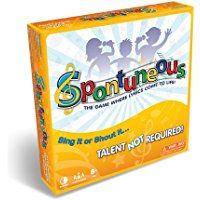 christmas games - Spontuneous - The Song Game - Sing It or Shout It - Talent NOT Required (Best Family / Party Board Games for Kids, Teens, Adults - Boy & Girls Ages 8 & Up),Yellow * Remain to the item at the image link. (This is an affiliate link). Best Family Board Games, Family Boards, Board Games For Kids, Games For Teens, Adult Games, Family Games, Games To Play, Abc Games, Cool Board Games