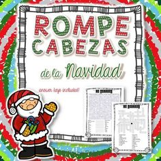 La Navidad Vocab Puzzles (Christmas Wordsearch and Crossword) These fun word puzzles (in pdf form) are a great way to practice or review Christmas vocabulary with your elementary or secondary class. There are 26 terms included in the crossword and 24 included in the wordsearch. The terms included are perfect for describing Christmas traditions and activities. Make sure to check out the preview! This file includes a crossword, wordsearch, and an answer key for each.