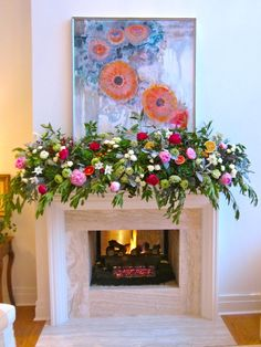 Amazing mantle decor for spring