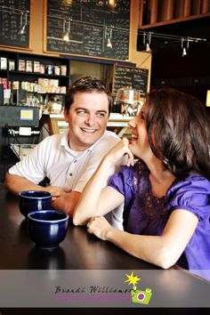 coffee shop engagement session