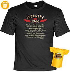 Lustiges T-Shirt zum 51. Geburtstag für das Geburtstagskind Jahrgang 1966 mit Gratis Mini-Shirt Set 51 Geburtstag 51 Jahre Geschenk - Shirts zum geburtstag (*Partner-Link)