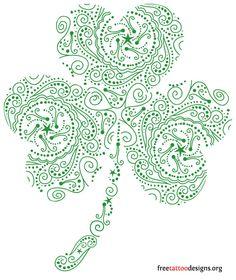 Green shamrock  design