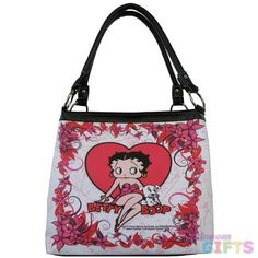 Licensed Betty Boop Heart Tote