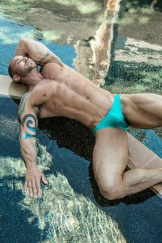 Scott Cullens Wears Cocksox Swimwear by Mark Henderson  #bulge #Cocksox #Swimwear