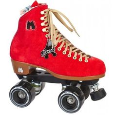 Riedell Roller Skates Moxi Lolly Poppy Red - $279