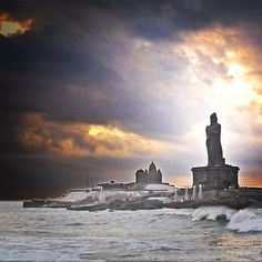 GORGEOUS. Kanyakumari, India (The meeting point of three oceans-the Bay of Bengal, the Arabian Sea and the Indian Ocean)