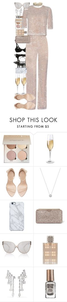 """""""2018 #6"""" by quiche ❤ liked on Polyvore featuring Wine Enthusiast, Zara, London Road, Uncommon, Jimmy Choo, Linda Farrow, Burberry, Anita Ko and Barry M"""