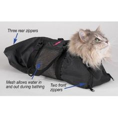 Cat Grooming Bag Prevent scratching biting restraint bathing cut nails Size:Small | http://Jet.com