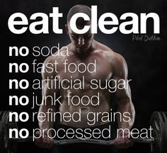 What does it mean to eat clean?