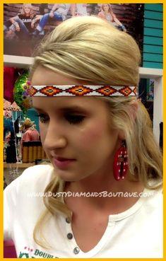 Seminole Sunset Beaded Headband, $18.95  www.DustyDiamondsBoutique.com