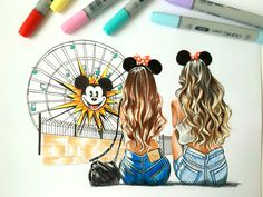 Drawings for best friends best friend drawings com friends forever Tumblr Drawings, Girly Drawings, Pretty Drawings, Beautiful Drawings, Disney Drawings, Easy Drawings, Drawings Of Love, Best Friend Pictures, Bff Pictures