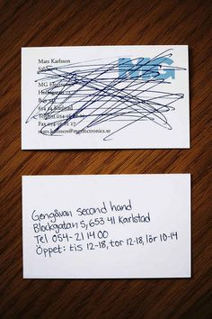A Swedish secondhand shop . Nothing cheaper, or better. | Buzzfeed, Clever Business Card designs