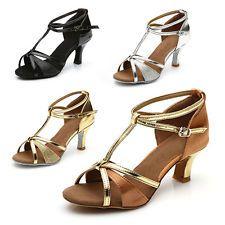the best attitude 3bb21 30a85 Brand New Women s Ballroom Latin Tango Dance Shoes heeled Salsa 4 Colors