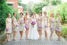 Bridesmaid photo in alley in German Village, Columbus Ohio Wedding Photographers, Henry Photography #columbusweddingphotographers #columbusweddings #Bridesmaids