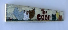 The Coop Rustic Chicken Coop Sign by TheChickenStudio on Etsy