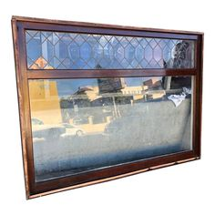These are really great windows from an old craftsman home in Los Angeles, California. We are so lucky to have them let alone in such great conditio. Bay Window Curtains Living Room, Living Room Windows, Cottage Windows, Leaded Glass Windows, Porch Steps, Craftsman Style Homes, Tudor Style, Los Angeles Homes, Window Styles