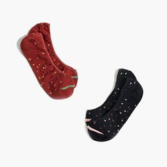 Playful anklet socks in cute hearts. Wardrobe essentials that hit right at the ankle, in an easy two-pack. <ul><li>Cotton/nylon/elastane.</li><li>Machine wash.</li><li>Import.</li></ul>
