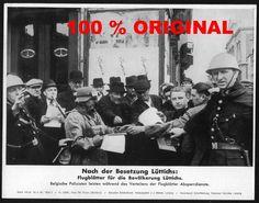 orig WK2 PRESSE FOTO - PRESSEBILD von 1940 - BESETZUNG von LÜTTICH Liége Belgien