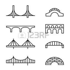 Easy Bridge Drawing - Set Of Simple Bridge Line Icons Bridge Icon Bridge Tattoo Golden Gate Simple Tattoo Drawing Bridge Drawing Bridge How To Draw The Golden Gate Bridge E. Bridge Tattoo, Bridge Logo, Landscape Tattoo, Landscape Drawings, Drawing For Beginners, Drawing For Kids, Line Illustration, Illustrations, Bridge Icon