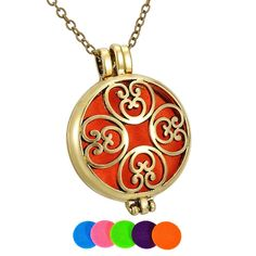 BFF Jewelry Fashion Aromatherapy Essential Oil Necklace Diffuser Locket Necklaces Yoga Footprint Pendant