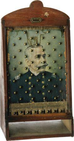 Admiral Dewey coin drop game, ca. 1900