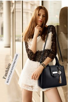 Women messenger bag decorated with leather tassel. Beautiful messenger bag also be used as crossbody bag and shoulder bag. Casual tote bag available in 8 colors. Grab your bag and enjoy our free worldwide shipping offer. Travel Messenger Bag, Leather Tassel, Pu Leather, Crossbody Clutch, Shoulder Bag, Tote Bag, Purses, Hand Bags, Casual