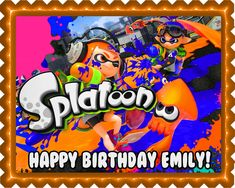 The #Splatoon #EdibleBirthdayCakeTopper come in square and round shape and they are perfect for #cupcakes as well. They come with shelf life of 12 months. Decorate the most #stunningbirthday. Make sure to store the topper sheet in dark away from sunlight inside envelop. http://www.ecakeimage.com/splatoon-edible-birthday-cake-topper-or-cupcake-topper-decor/