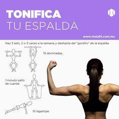 Rutina para tonificar la espalda. Workout ¿Quieres más rutinas? Entra a www.instafit.com