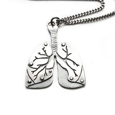 Anatomical lung necklace by missyindustry at Etsy