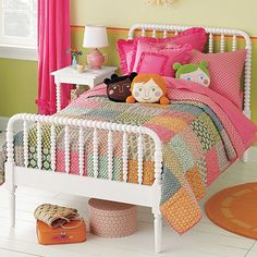 jenny lind bed - land of nod - available with a trundle. Amelia's been suggesting that she have her own room.
