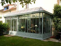 Photo : véranda en toit en zinc