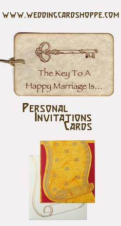 TRIVENI CARDS - KEY TO A HAPPY MARRIAGES - PERSONAL INVITATIONS  http://weddingcardshoppe.com/ViewLargeCard.asp?CardCode=0930
