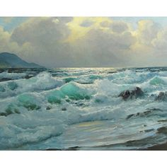 The Ocean Wave' Oil on Canvas Art - Overstock™ Shopping - Top Rated YGC Canvas