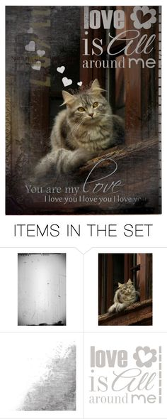 """""""Love is all around"""" by sharmarie ❤ liked on Polyvore featuring art"""