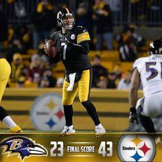 11/2 Via The Pittsburgh Steelers · ·     YOUR Steelers win 43-23! #HereWeGo