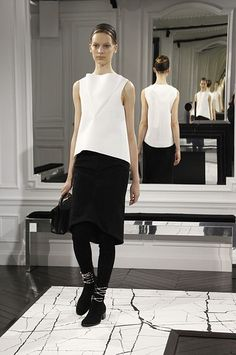 Looks like we'll still be seeing a lot of of black and white - Fall 2013 trends