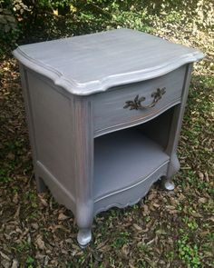 Distressed Grey French Provincial Vintage by TheWoodress on Etsy, $200.00
