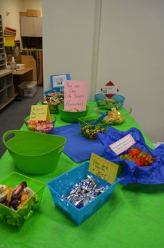 I saw that going differently in my mind...: Volunteer Appreciation Dessert Bar...