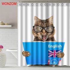 WONZOM 1Pcs Cute Cat Waterproof Shower Curtain Bird Bathroom Decor Animal Decoration. Brand Name: WONZOMFeature: Stocked,Eco-FriendlyStyle: ModernModel Number: 17222-16718Material: PolyesterPattern: AnimalHigh Quality Bath Curtain For Home Decor: Waterproof Fabric Shower CurtainPackage included: 1 Pcs Shower Curtain + 12 HooksCustomized or not: YesPattern: AnimalPackaging: Security PackageDuschvorhang: Shower Room, Bathroom, hotel ,gift etcrideau de douche: Waterproof,Milder and durableSize…
