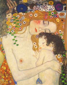 Gustav Klimt - Mother and child. Expression//feeling sums it up perfectly!