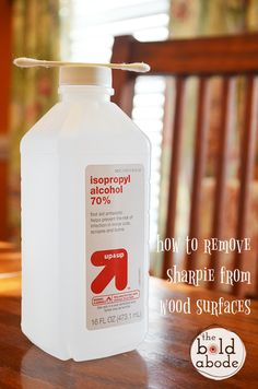 How to Remove Sharpie from Wood Surfaces - The Bold Abode