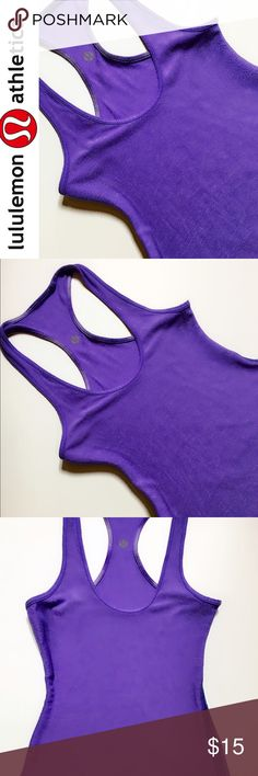 Lululemon Reversible Tank This fabulous Lulu Reversible Tank is in great condition.  Can be worn with the color trimming  or solid.  The Lulu logo is visible on either side. lululemon athletica Tops Tank Tops